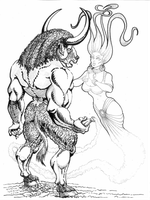 Minotaur And Genie! by martintimmins
