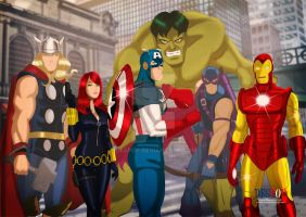 The Avengers by Des Taylor by DESPOP