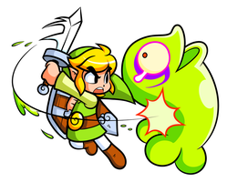 Zelda: Toon Link and Green Chuchu by JamesmanTheRegenold