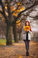 redhead in autumn by pathyelisia