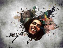 bob marley wallpaper by onemicGfx
