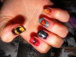 Superhero Nails by barkingmadcaz