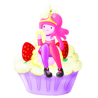 Princess Cupcake-gum by Strawberry--Killer