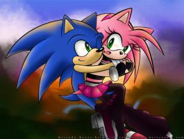 Sonic and Amy 1.0 by TheSnowDrifter