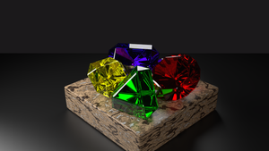 Spyro Gems in Blender Cycles by PyroDragoness