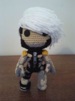 Raiden of Metal Gear Solid 4 Sackboy crochet by Sackboyncostume