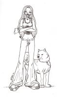 Me and Kiba - Ink by Avro-Chan