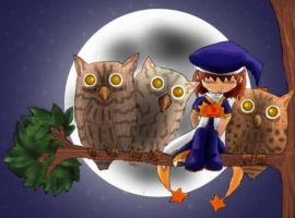 samantha and owl by anzareveange