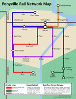 Ponyville Rail Services Subway Map by sparklepeep
