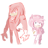 'Sonic Boom' :Knuckles n Amy: by Blue-Chica