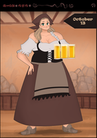 CDC oct: Day 13th -Tavern Queen by iCassiekinz