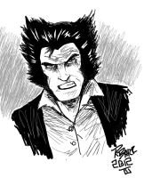 Wolverine warm up sketch by RADMANRB