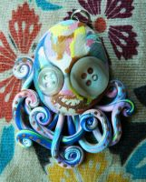 Patchwork Octopus by BlackMagdalena