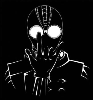 Spiderman: Noir Minimal by badflippy