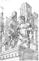 Snake eyes Punisher by davidnewbold