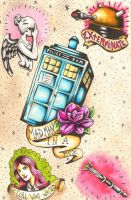 Doctor Who tattoo flash by jaimie13