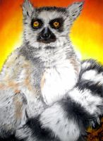 Lemur in the Sunrise by WhimsicalSJane
