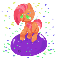 Babby on a balloon by PigeonMilk