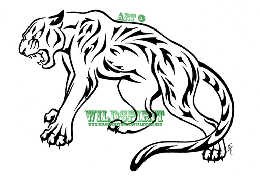 Tribal Nature Panther Tattoo by WildSpiritWolf