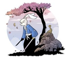 Usagi Yojimbo Charity piece by travisJhanson