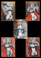 LADY DEATH 5 PERSONAL SKETCH CARDS by AHochrein2010