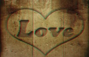 Wooden Love 3-D conversion by MVRamsey