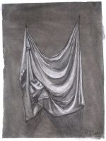 Drapery Study with Charcol by brianhaddad