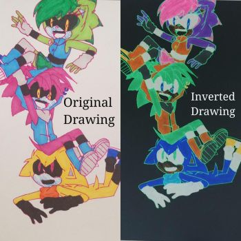 Inverted Drawing by XDeyKilledKennyX