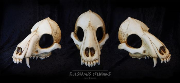 Wolf Skull Mask - Painted by Bueshang