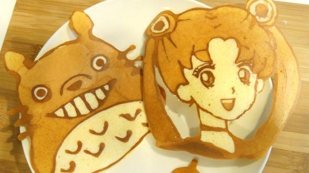 Sailor Moon Pancake Art by minicuteclub