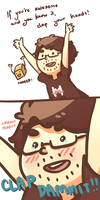 Markiplier says you're awesome hey by benebonked