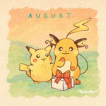 Monthly Pikachu - August by Paleona