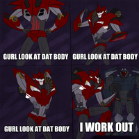 I WORK OUT by annicron