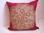 No. 11 15 inch accent pillow with knitted lace by DoiliesbyDiane
