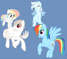 Prussia x rainbow dash family by Cabooselover