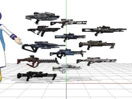 Mass effect 3 sniper rifles + DL by sky-commander