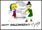 Halloween 2013 - Link and Mulan by smileys-4-eva
