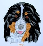 Quilled Bernese Mountain dog by pinterzsu
