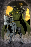 Storm Knocked Out by Dr. Doom by BobKO