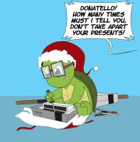 Donatello Christmas by ShadowMaginis