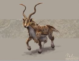 Horned Markhor by megillakitty
