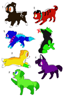 Puppy Adoptables!!! ~Open~ by N1GHTWOLFXD