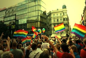 The First Prague Gay Pride by calliopeem