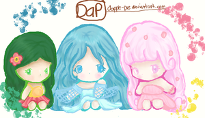 Elements Chibi Characters by dapple-pie