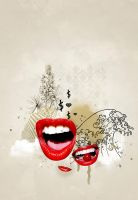 Red lips by harisson