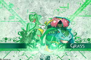 Grass Type Wallpaper by GreedLingCR