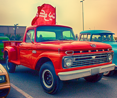 Classic Red Ford 350 Truck by Neko-CosmicKitty
