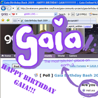 Happy Birthday Gaia by happy-music-pirate
