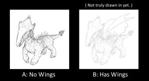 Dragon Character Concept 1: Compare Two Versions by systemcat