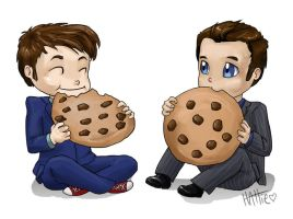 Doctor and Ianto and Cookies by Mad-Hattie